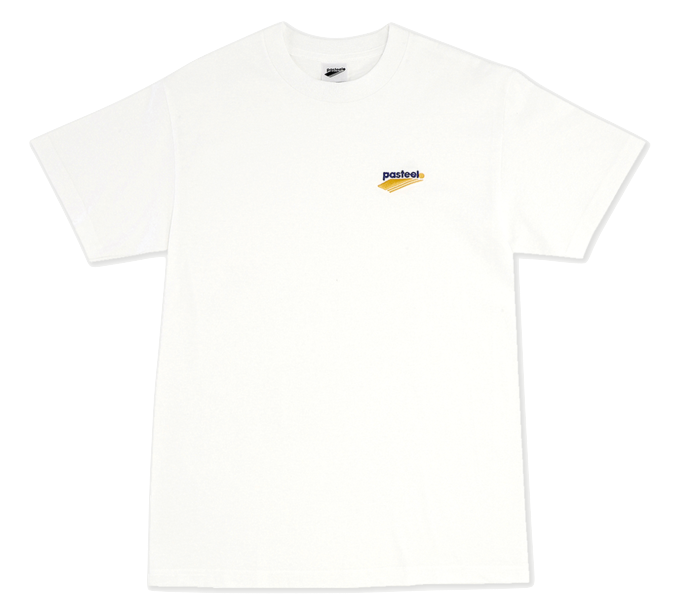 Pasteelo - skate - Embroidered Tee - t-shirt- hvid