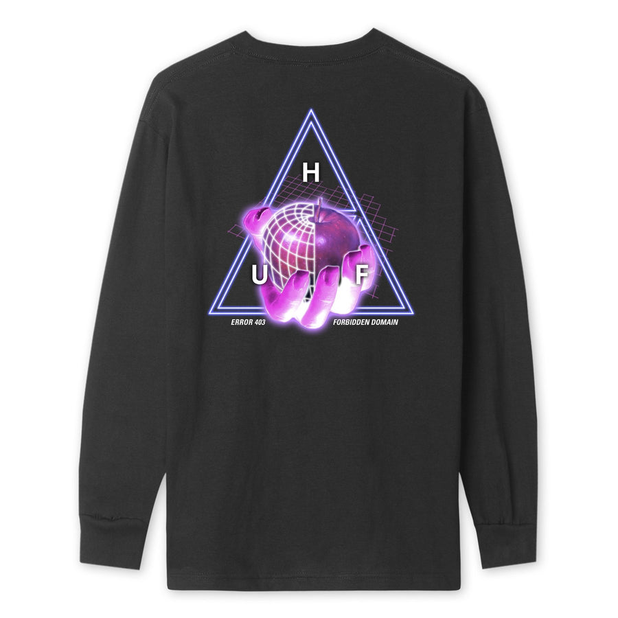 HUF - FORBIDDEN DOMAIN L/S TEE BLACK BACK