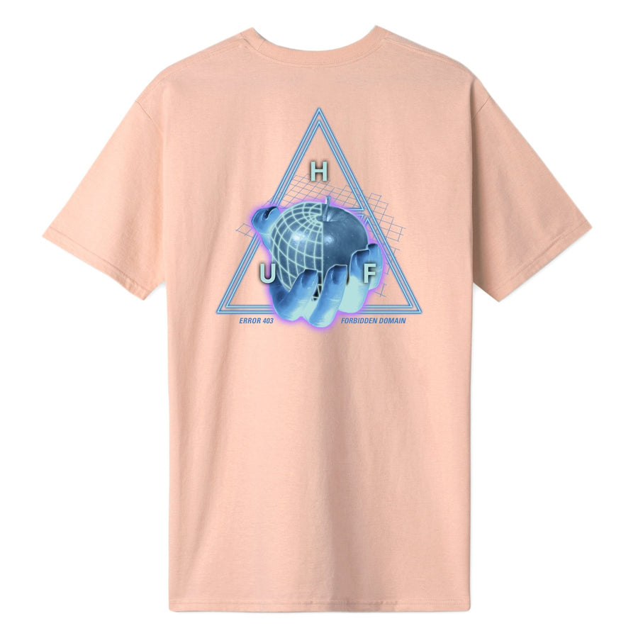 HUF - FORBIDDEN DOMAIN S/S TEE - CORAL PINK BACK
