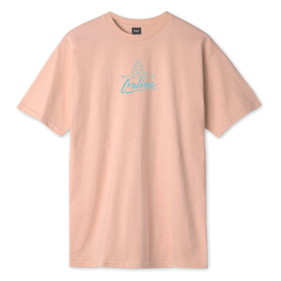 HUF - FORBIDDEN DOMAIN S/S TEE - CORAL PINK FRONT