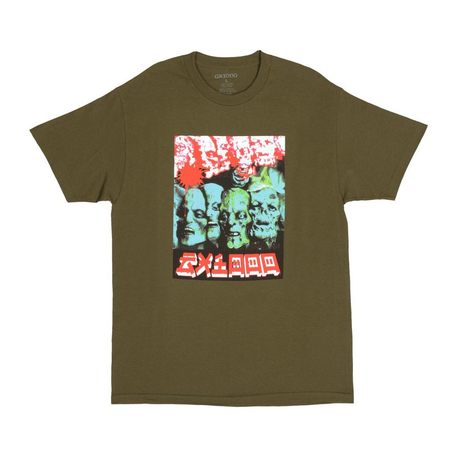 GX1000 - Zombie Tee - Military Green t-shirt skateboarding