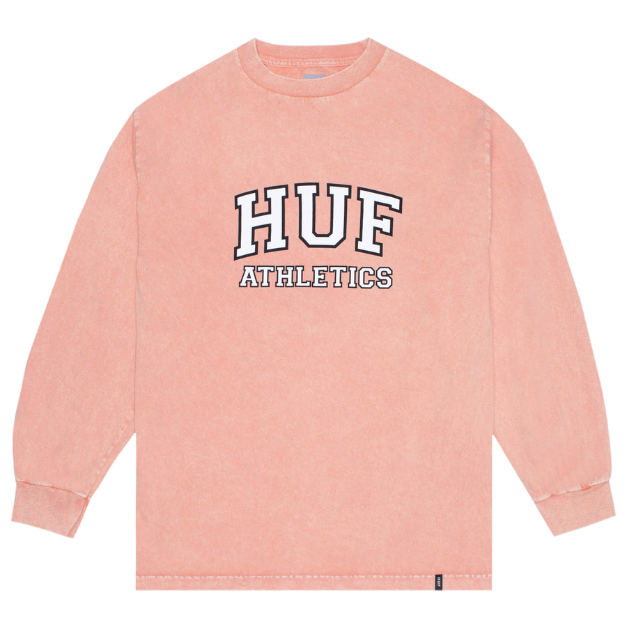HUF - DRAFT ACID WASH L/S TEE CANYON SUNSET FRONT