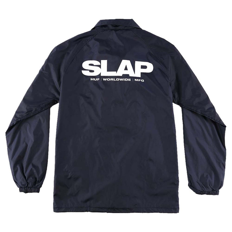 HUF X SLAP COACHES JACKET NAVY RYG