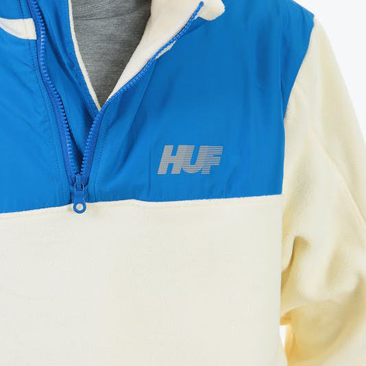 MOUNTAIN 10K QUARTER ZIP HVID DETALJE
