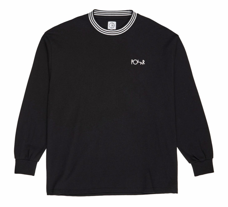 Polar Skate Co. - Stribed Rib Longsleeve - Sort