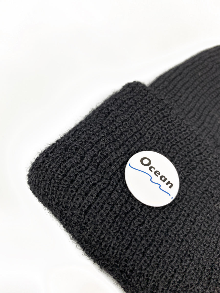 Ocean Apparel - Pinned up GORE-TEX WOOL Beanie - Sort