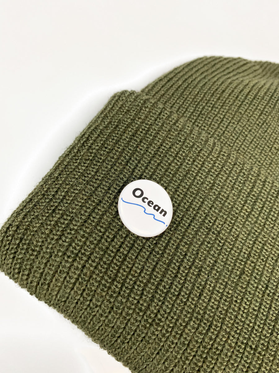 Ocean Apparel - Pinned up GORE-TEX WOOL Beanie - Army