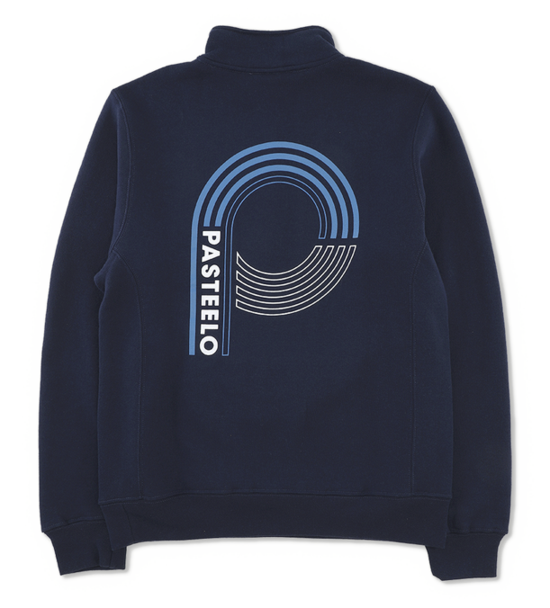 Pasteelo - fleece - dark navy - logo - på - ryggen