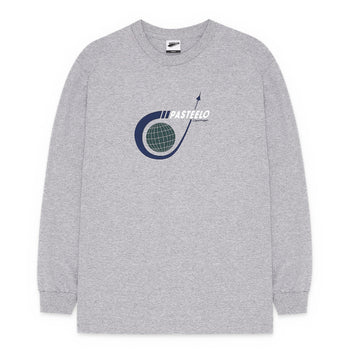 Pasteelo - Travel Logo L/S t-shirt - Ash/Green