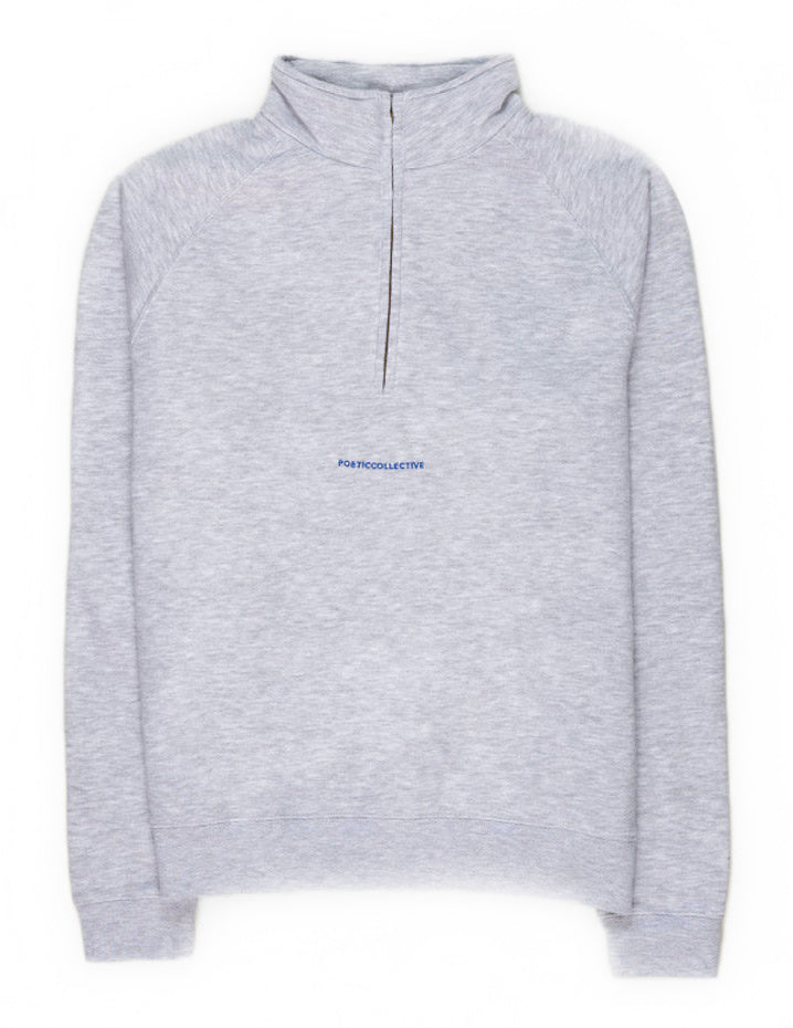 Poetic Collective - Half Zipper - Grey