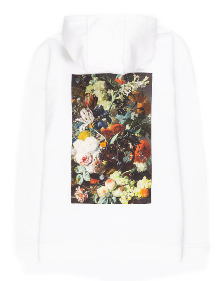 Poetic Collective - Flower Hoodie Hvid