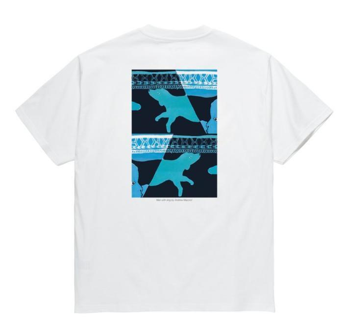 White Polar skateboards co. T-shirt back print