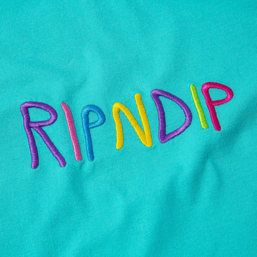 RIPNDIP Embroidered tee close up