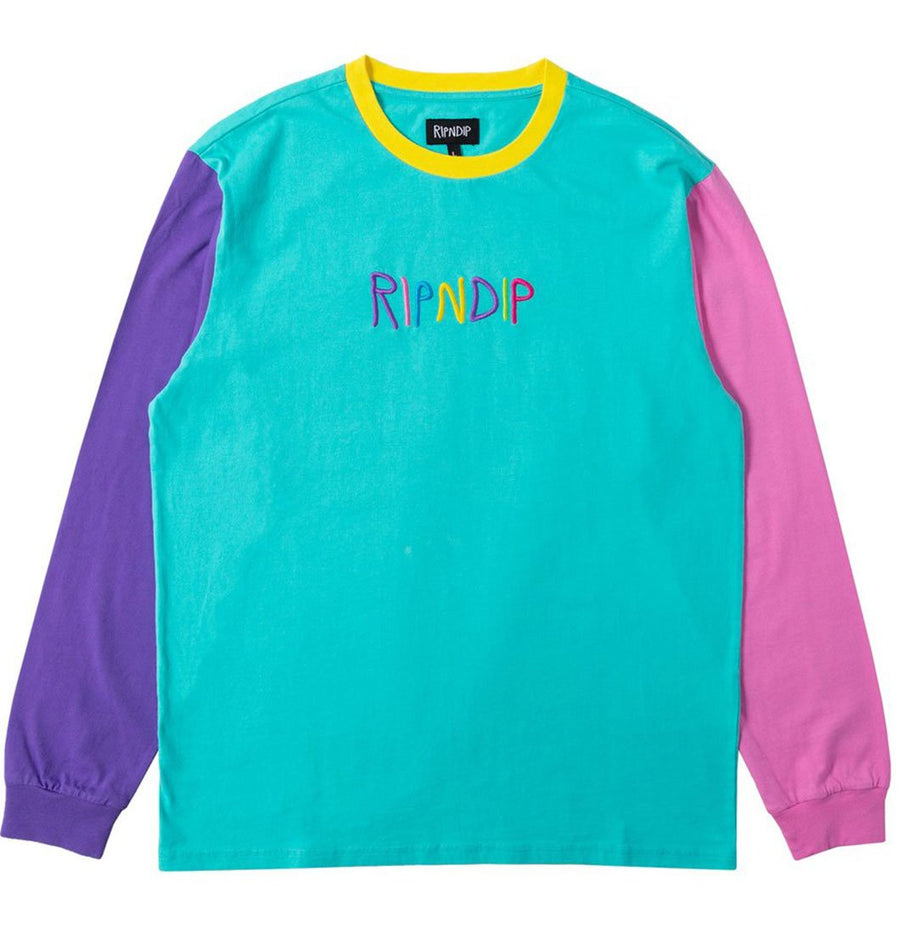 RIPNDIP Embroidered long sleeve colors