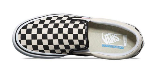 vans pro slip on checkerboard sko set fra oven