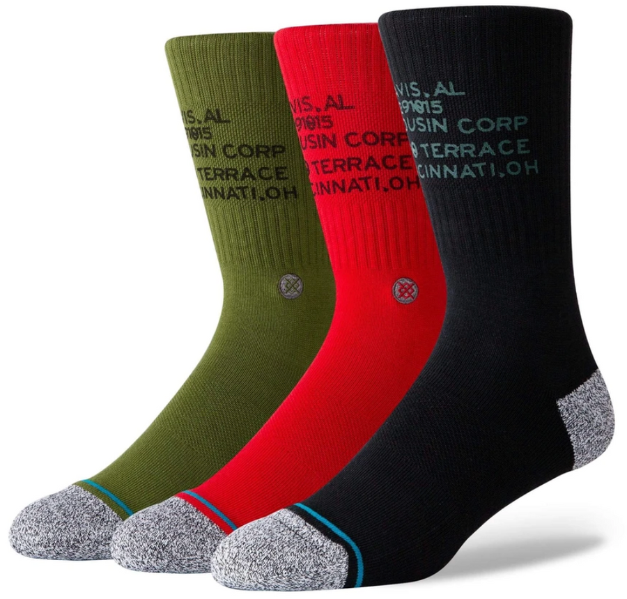 Stance Al Davis Triple Corp 3 Of A Kind Socks