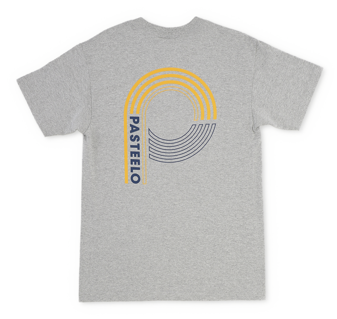 Pasteelo - Sport Tee - athletic grey back - t-shirt