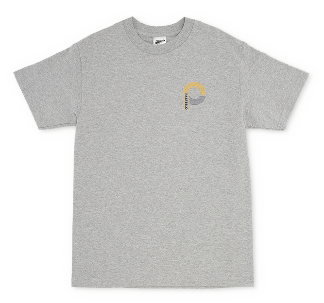 Pasteelo - Sport Tee - athletic grey- front logo - t-shirt