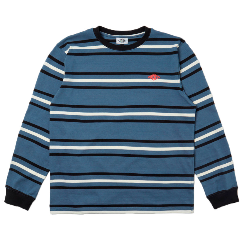 SCRT - Stripe Long Sleeve BLUE FRONT