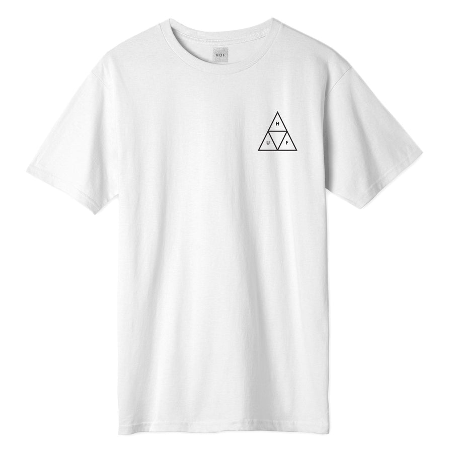 HUF - ESSENTIALS TT S/S TEE WHITE FRONT