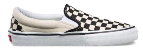 Vans Slip on cheater board sort hvid set fra siden