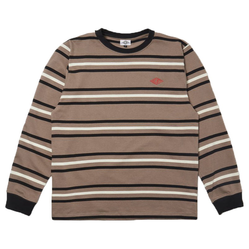 SCRT - Stripe Long Sleeve KHAKI FRONT