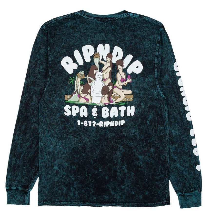 Ripndip - Spa Days LS T-shirt - vintage green  - backprint