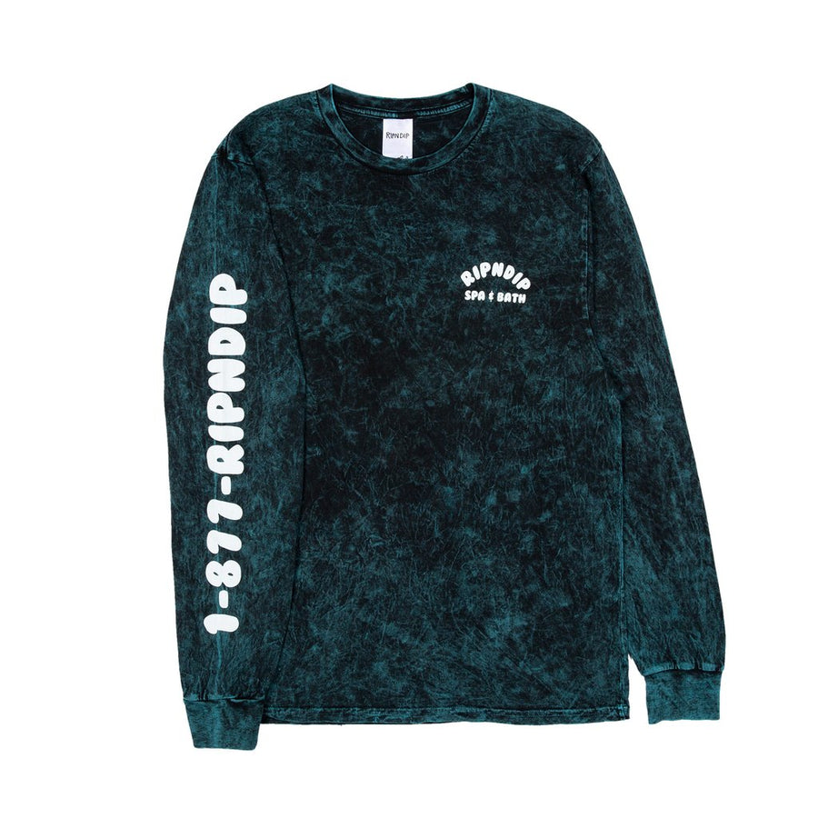 Ripndip - Spa Days LS T-shirt - vintage green - detalje