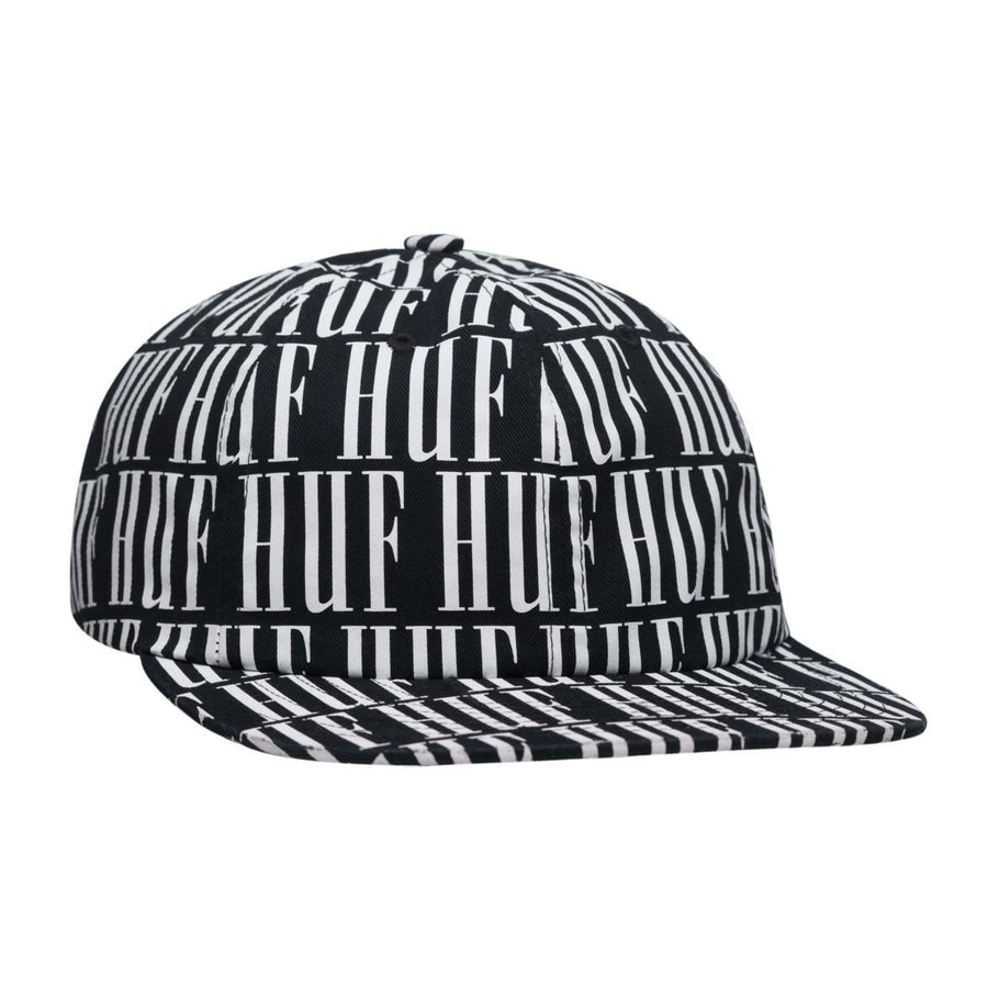 HUF - Night Market 6 Panel-Caps-HUF-One Size-Black-oceanstore