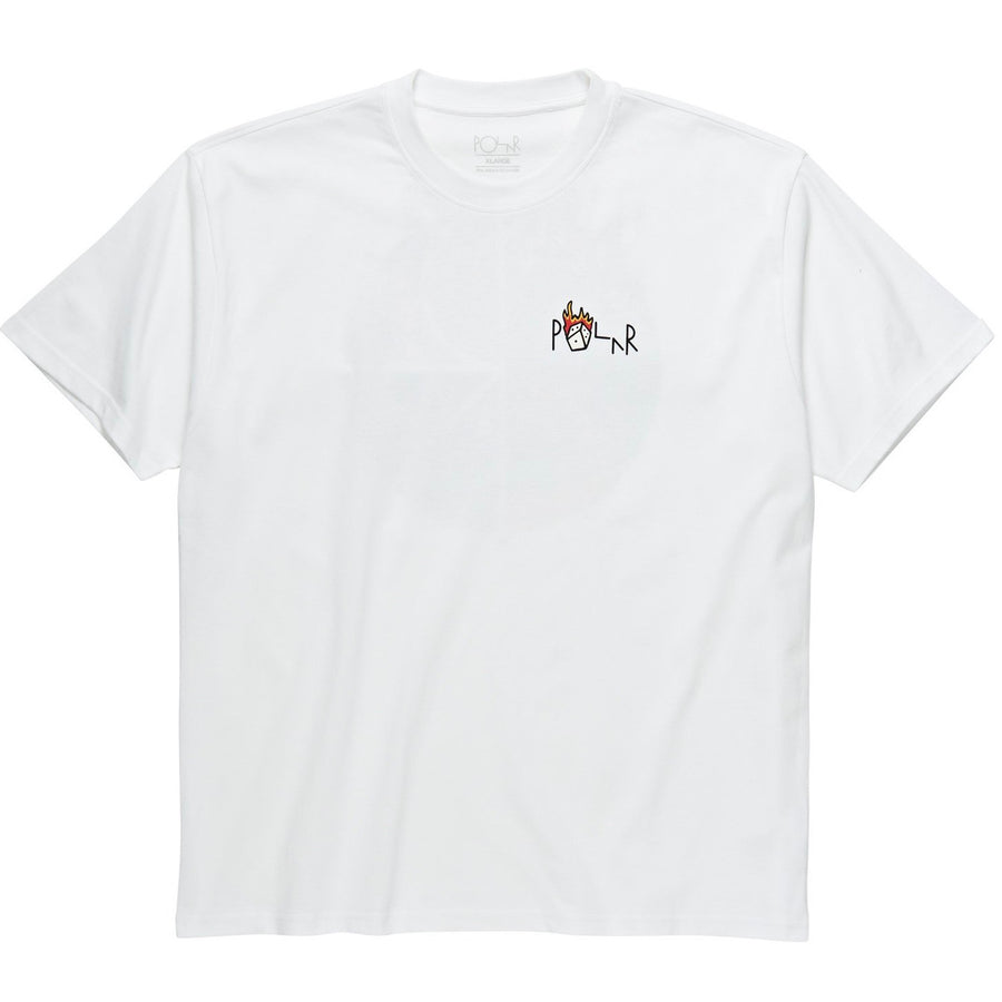Polar Skate Co. - Castle Fill Logo T-shirt i Hvid