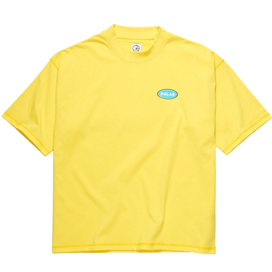 Polar Skate Co. - Station Logo Surf T-shirt i Gul