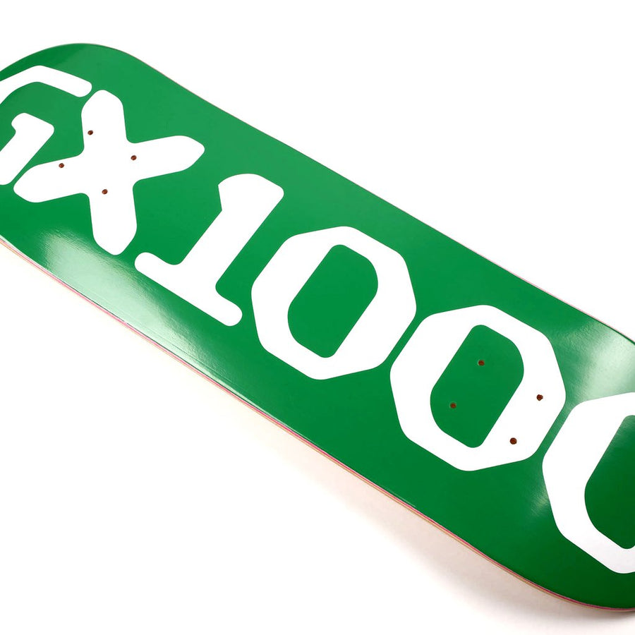 GX1000 - OG logo 8.5 skateboard detail green