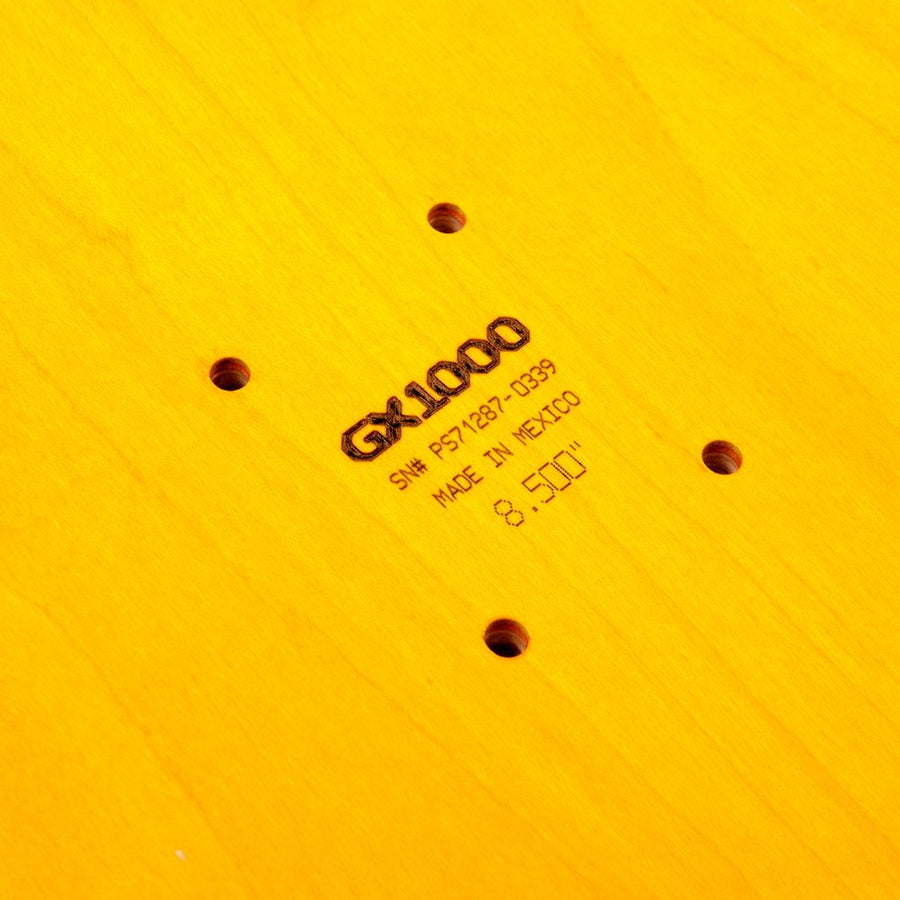 GX1000 - OG logo 8.5 ps stix skateboard detail
