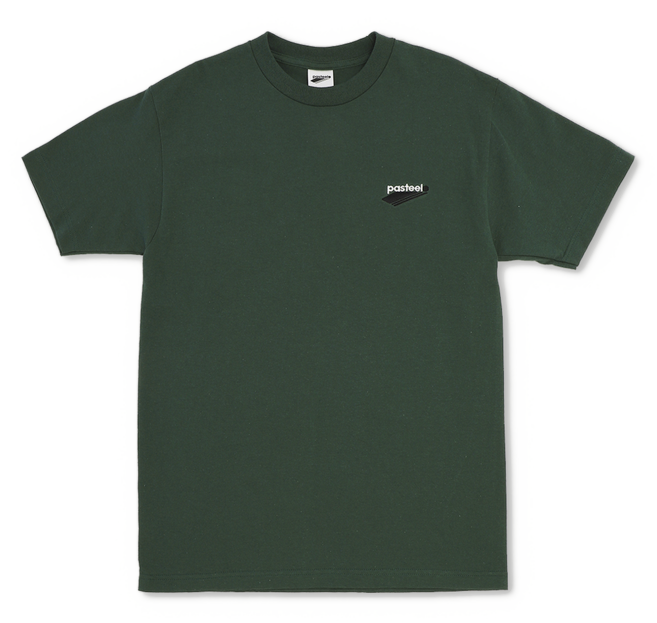 Pasteelo - Embroidered Tee - t-shirt- grøn - skate