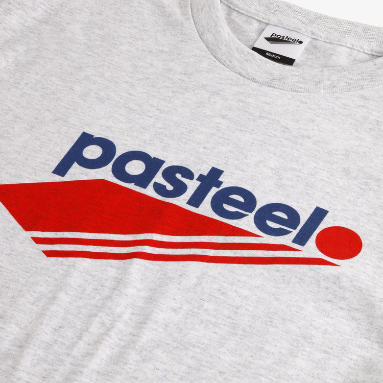 Pasteelo - O.G logo T-shirt - Ash/Red