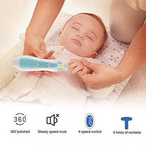 Baby Nail Electric Trimmer Kit For Newborn Toddler Toes and Nail