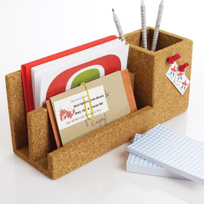 Cork Desk Organizer