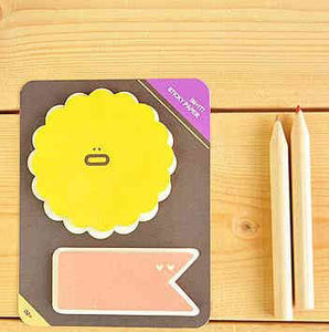 Flower & Rain Drop Sticky Notes