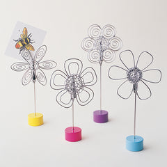 Pretty Petals Wire Memo Clips