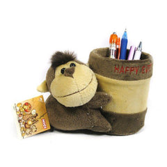Plush Monkey Pen Holder