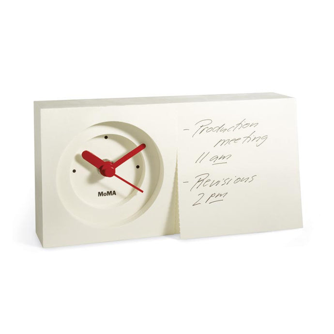 MoMA Notepad Desk Clock