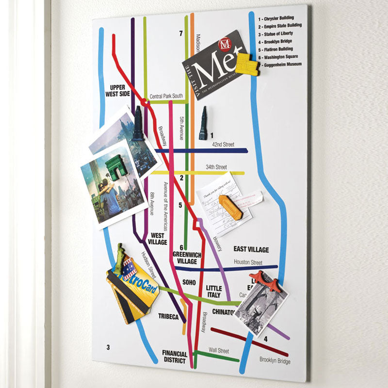 NYC Streets Magnetic Memo Board