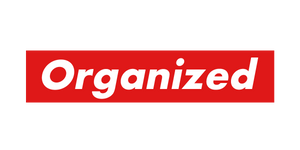 """Organized"" Laptop Sticker"