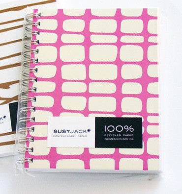 Susy Jack Pink Net Notebook