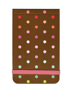 Picture of Chocolate & Polka Dots Mini Notepad