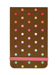 Chocolate & Polka Dots Mini Notepad