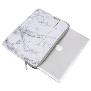 Canvas Laptop Sleeve Marble