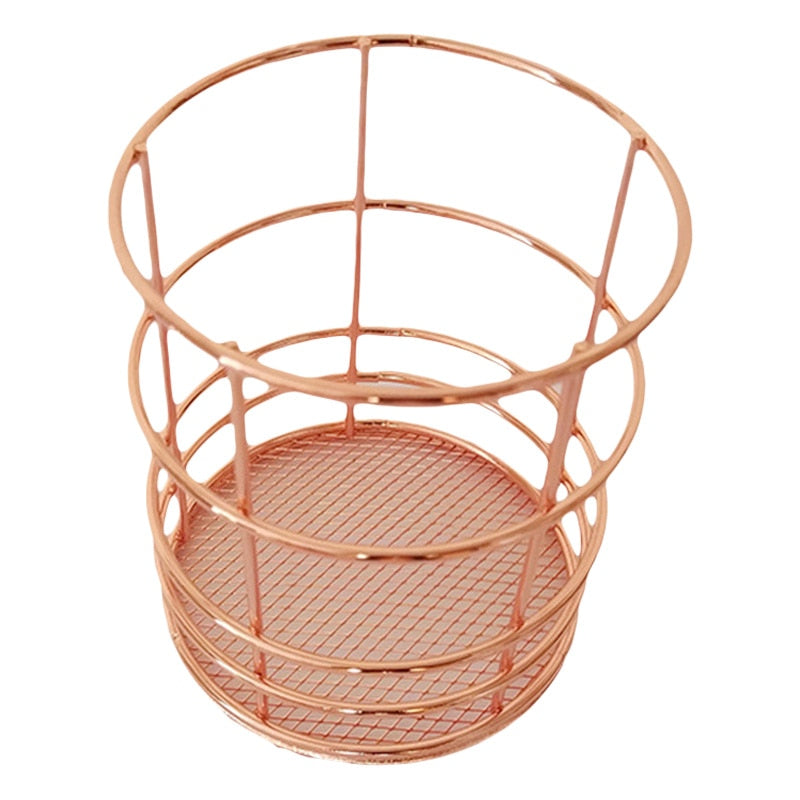 Rose Gold Wire Pencil Organizer
