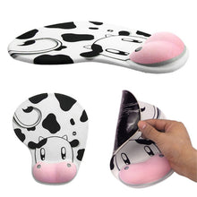 Load image into Gallery viewer, Cow Anti-Slip Ergonomic Gel Wrist Mouse Pad