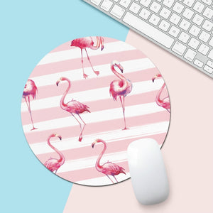 Pink Flamingo Mouse Pad